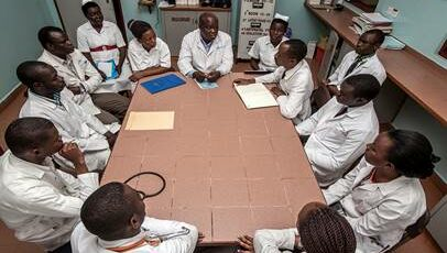 Morning clinical meetings take place every day